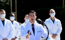 El médico Sean P. Conley ofrece una actualización sobre la condición del presidente de Estados Unidos, Donald J. Trump,