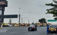 Como en octubre de 2019, el Municipio movilizó a camiones.