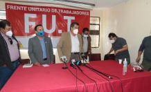 Rueda de prensa del FUT por las protestas