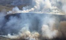 El incendio se registra en la zona protegida Cayambe-Coca