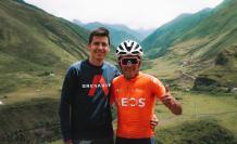 Richard-Carapaz-Albert-Serrtacó-amistad-ciclismo