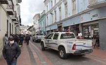 Efectivos policiales llegaron hasta el Centro Histórico.
