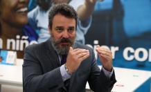 El representante de Unicef en Ecuador, Joaquín González-Alemán, durante una entrevista con Efe hoy en Qui