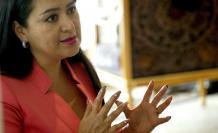 La presidenta del Consejo de la Judicatura de Ecuador, María del Carmen Maldonado.