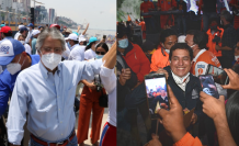 Cierres de campaña Arauz y Lasso