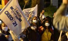Los simpatizantes de Guillermo Lasso se tomaron las calles de Quito.