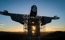 Esta estatua es promocionada para impulsar el turismo en Brasil