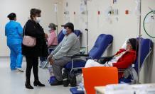 Vista de la unidad de emergencia con pacientes covid-19 del hospital Iess del Sur en Quito (Ecuador).