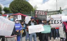 Protestas en el Hospital del IESS de Quito.