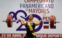 Alexandra Escobar pesas Ecuador