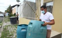 En la ciudadela Maldonado, el agua llega solo dos horas tres veces a la semana.