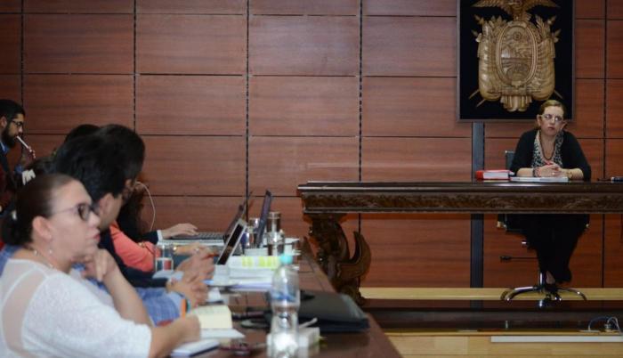 Jueza Daniella Camacho, audiencia de revisión de medidas cautelares. 4 de enero de 2020.