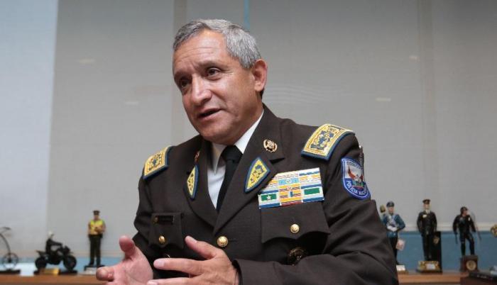 Comandante de la policía Patricio Carrillo