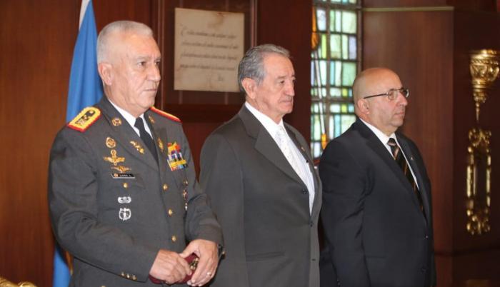 Oswaldo Jarrín, ministro de Defensa, participó en la inauguración del Ejercicio Regional Teórico de respuesta ante emergencias químicas dirigido a los Estados parte de la OPAQ. 17 febrero 2020.