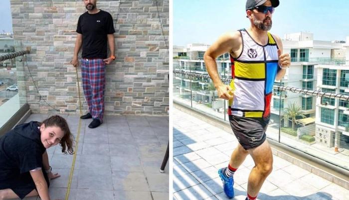 Maratón en balcón