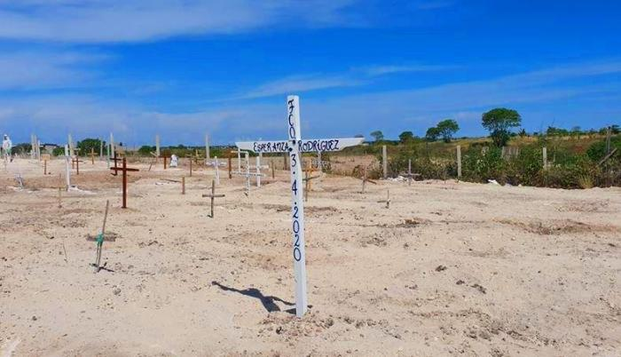cementerio casos de Covid 19 santa elena