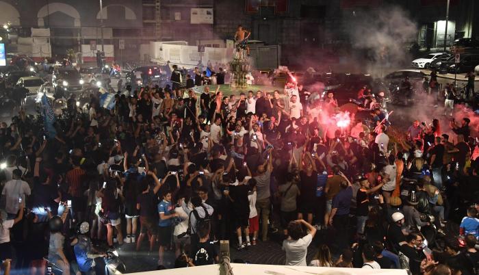 Nápoles Copa de Italia campeón