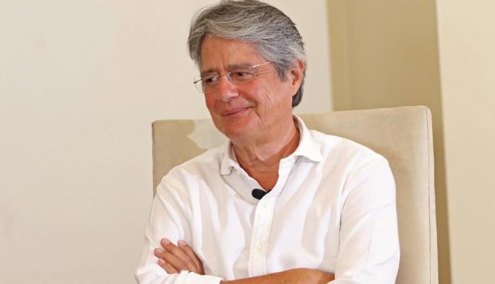 Guillermo Lasso en entrevista para las elecciones 2021