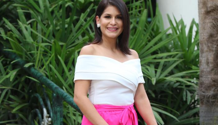 Liz Valarezo, presentadora de noticias, Teleamazonas