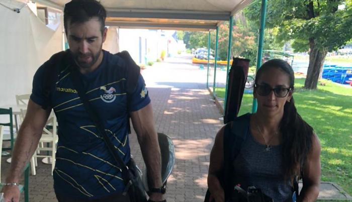 César De Cesare y Stefanie Perdomo canotaje Ecuador