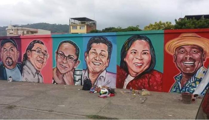 Mural de los Adorables Entenados en Manabí Ecuador