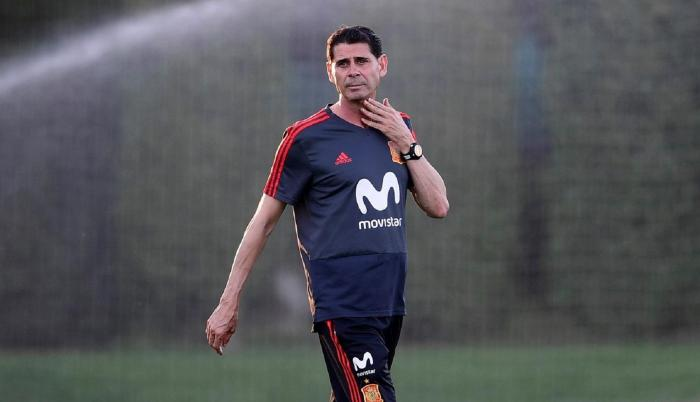Fernando Hierro, técnico de España