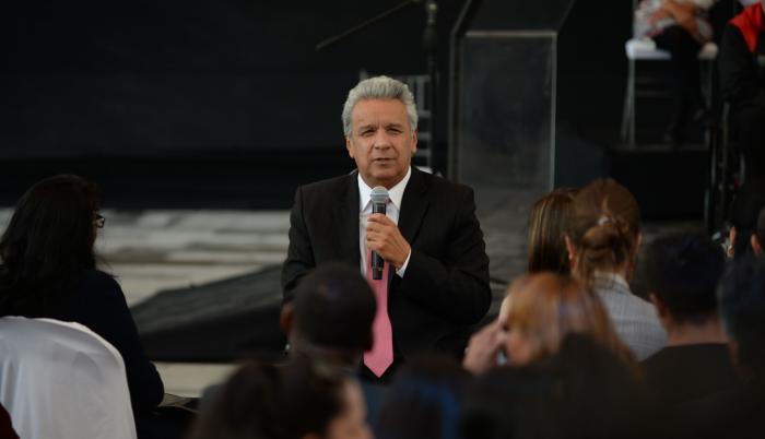 Lenín Moreno - reflexión - paro nacional