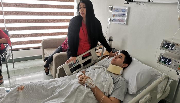 Roberto Simon se recupera en la clínica Kennedy.
