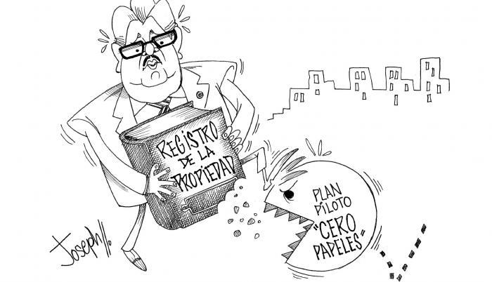 Registro de propiedad caricatura