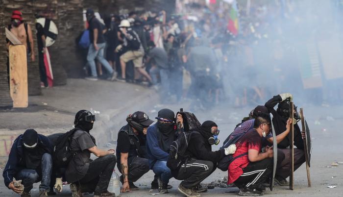 protestas latinoaméria chile santiago