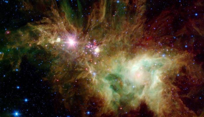estrellas espacio copos de nieve NASA