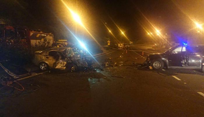 Quito. Accidente en la Simón Bolívar. Cuatro personas fallecieron.