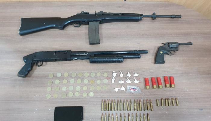 banda capturada armas de fuego