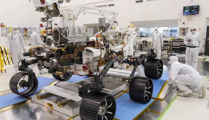 Mars 2020 Rover Drive Test