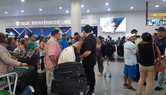 Coronavirus. Aeropuerto de Guayaquil. Lunes, 27 de enero de 2020.