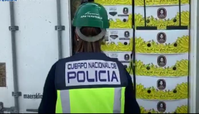 Policía España. Incautación droga de Ecuador.
