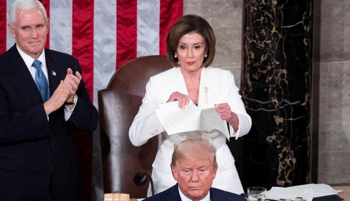 Nancy Pelosi en el Congreso de Estados Unidos.