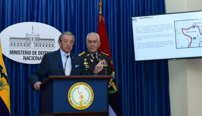 Ministro de Defensa - operación en La Hormiga