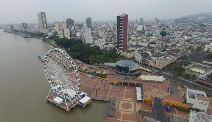 Imagen de archivo de la noria, ubicada en el Malecón Simón Bolívar de Guayaquil.
