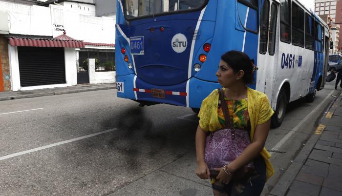 Contaminación de buses