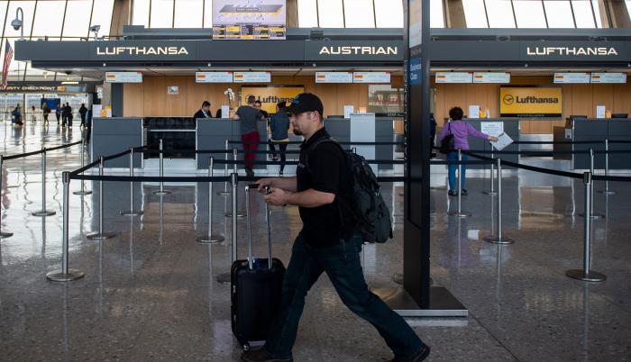 A passenger walks past(31406831)