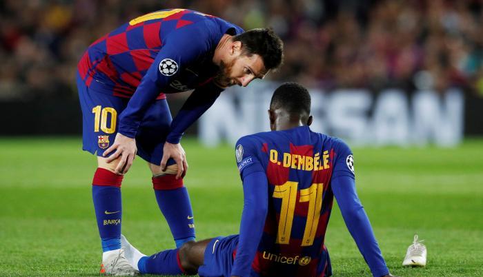 Messi y Dembélé