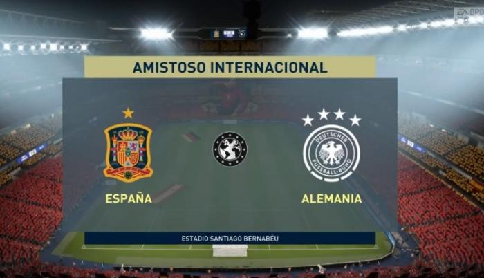 España - Alemania amistoso virtual