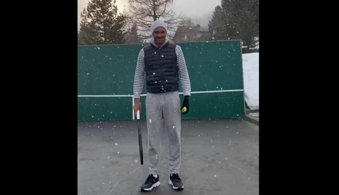 Roger Federer - entrenamiento 01