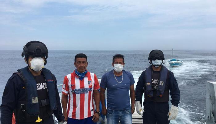 los pescadores rescatados