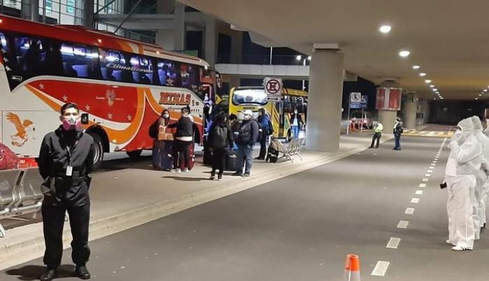 En Quito repatriados