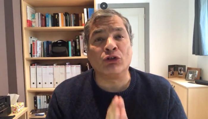 Mensaje de Rafael Correa desde Bélgica.
