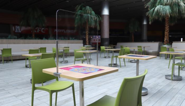 mall del sol+pandemia+patio de comida