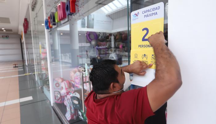 centros comerciales+pandemia+aforo