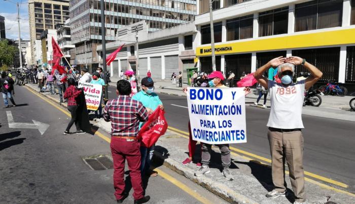 manifestaciones quito trabajadores